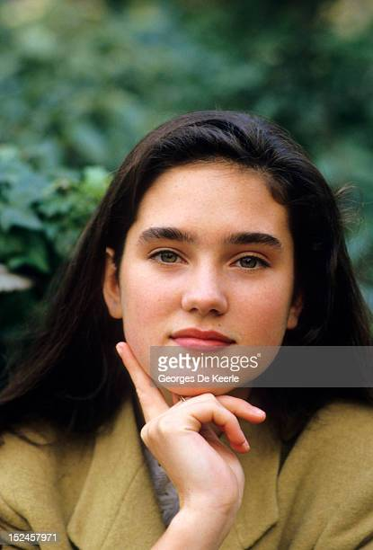 American actress Jennifer Connelly during the filming of 'Labyrinth' UK on December 1 1986