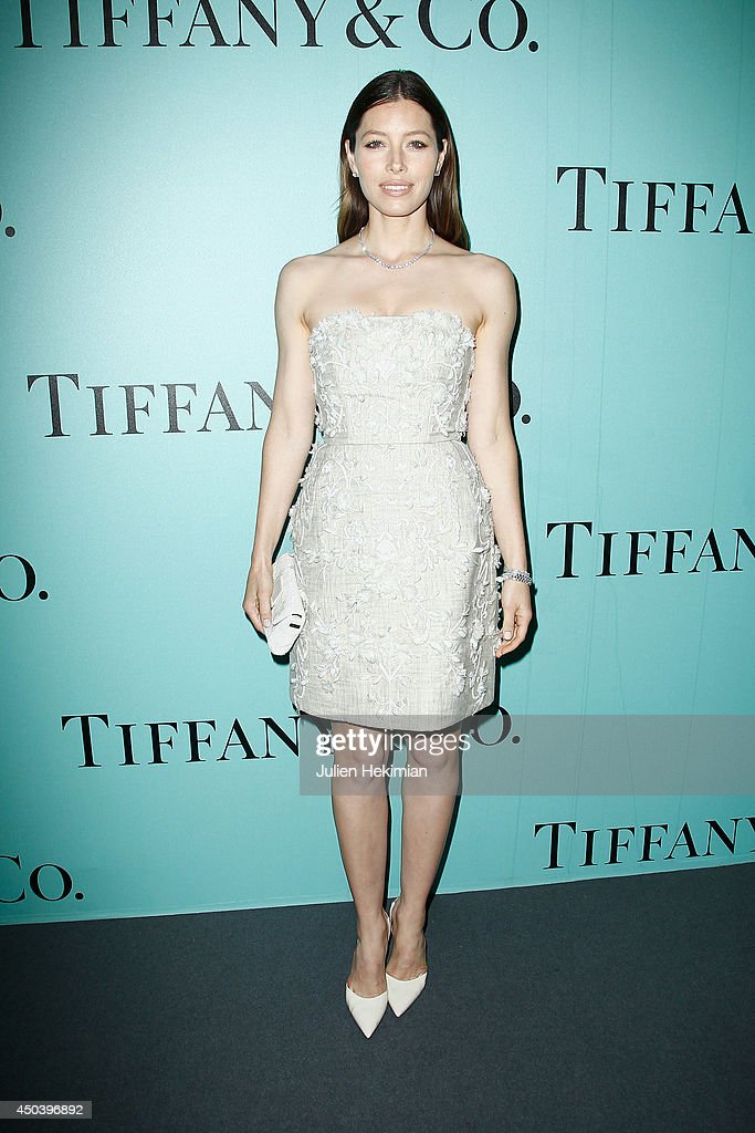 American actress <a gi-track='captionPersonalityLinkClicked' href=/galleries/search?phrase=Jessica+Biel&family=editorial&specificpeople=203011 ng-click='$event.stopPropagation()'>Jessica Biel</a> attends the Tiffany & Co Flagship Opening on the Champs Elysee on June 10, 2014 in Paris, France.