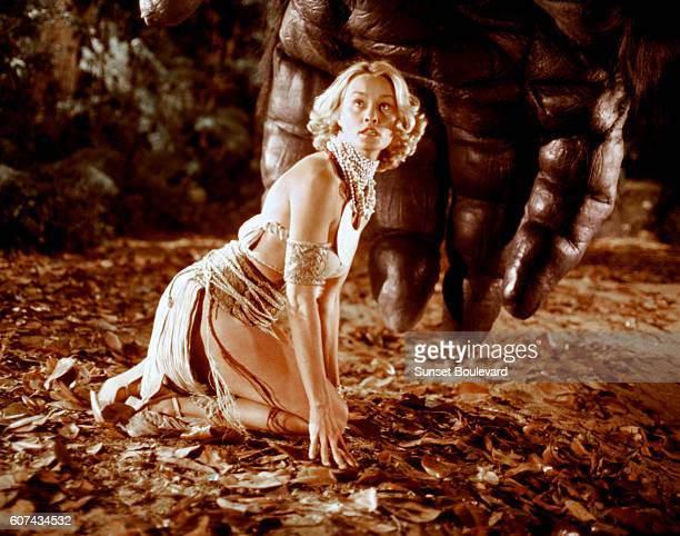 American actress Jessica Lange on the set of King Kong directed by John Guillermin