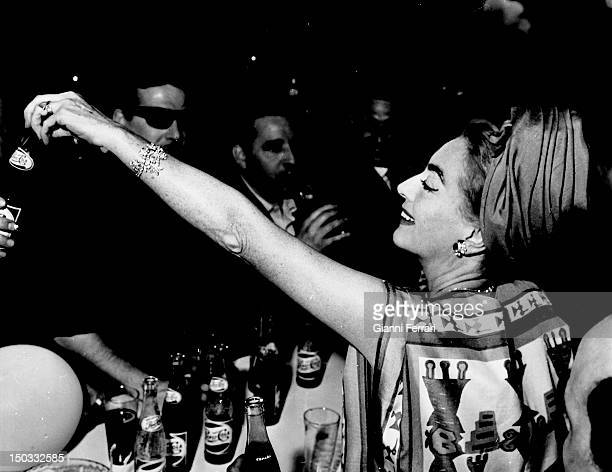 American actress Joan Crawford at a party of Pepsi Cola 22th May 1962 Barcelona Spain