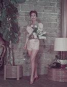 American actress Joan Crawford circa 1955