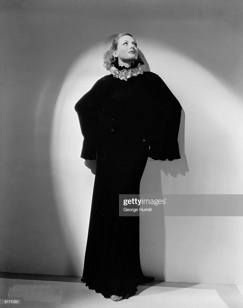 American actress Joan Crawford in costume by Adrian for her role in 'Dancing Lady'