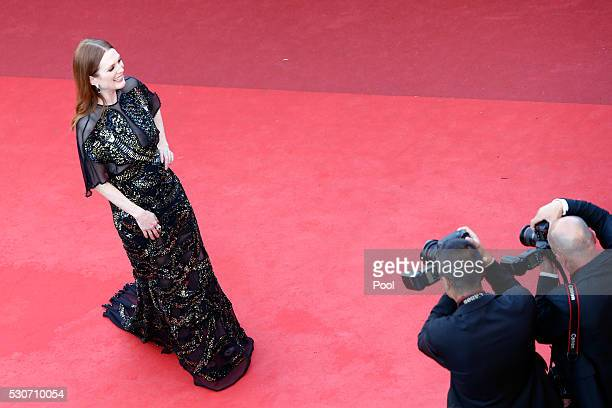 American actress Julianne Moore attends the 'Cafe Society' premiere and the Opening Night Gala during the 69th annual Cannes Film Festival at the...