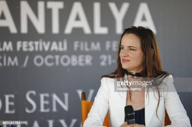 American Actress Juliette Lewis answers the questions of movie fans during a gathering organized within 54th International Antalya Film Festival in...