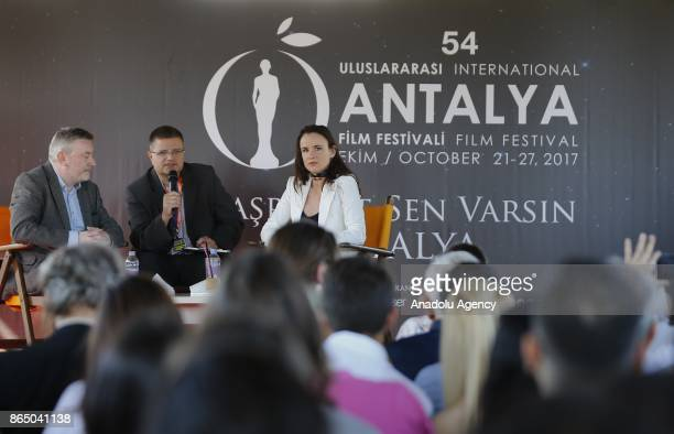American Actress Juliette Lewis attends question answer event for the movie fans during a gathering organized within 54th International Antalya Film...