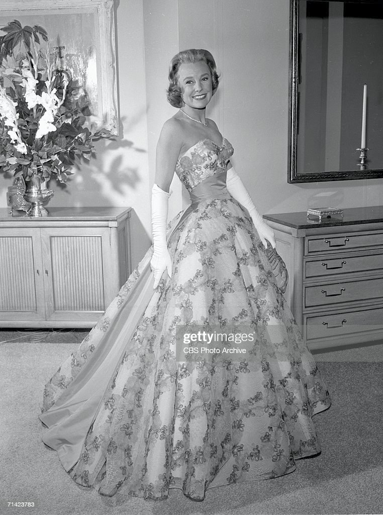 American actress June Allyson poses for the CBS telelvision network's anthology drama program 'The DuPont Show With June Allyson' December 21 1959