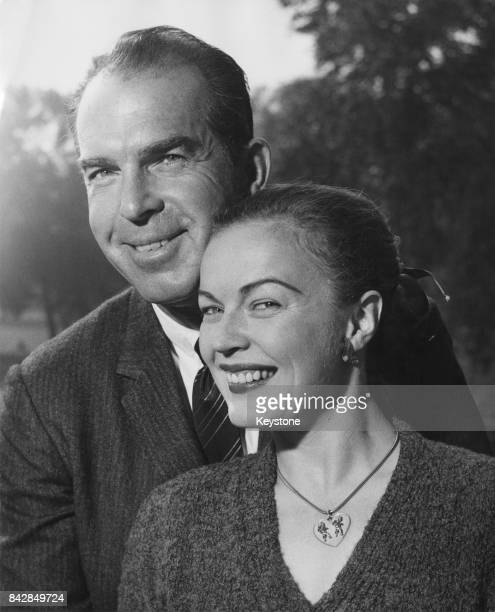 American actress June Haver with her husband actor Fred MacMurray in London for a holiday 7th October 1959