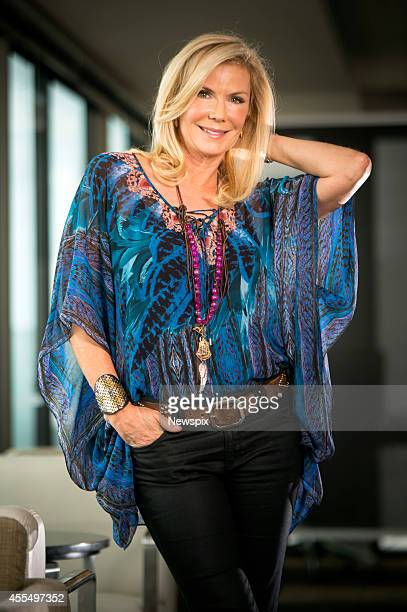 American actress Katherine Kelly Lang from television soap opera 'The Bold and the Beautiful' poses during a photo shoot on September 12 2014 in...