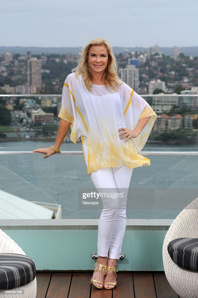 American actress Katherine Kelly Lang, who plays Brooke Logan on daytime soap opera 'The Bold and the Beautiful', poses during a photo shoot in Sydney, New South Wales.