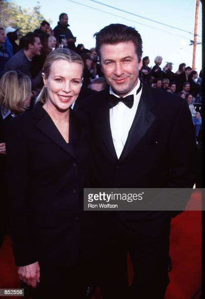 American actress Kim Basinger and second husband actor Alec Baldwin at the Screen Actors Guild Awards in Los Angeles March 7 1999 The couple divorced...