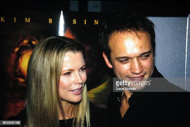 American actress Kim Basinger and Swiss actor Vincent Perez attend the premiere of their film 'I Dreamed of Africa' New York New York April 18 2000