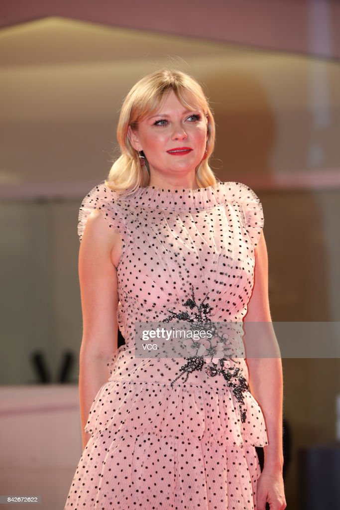 American actress Kirsten Dunst arrives at the red carpet of film 'Woodshock' screening during the 74th Venice Film Festival at Sala Giardino on September 4, 2017 in Venice, Italy.
