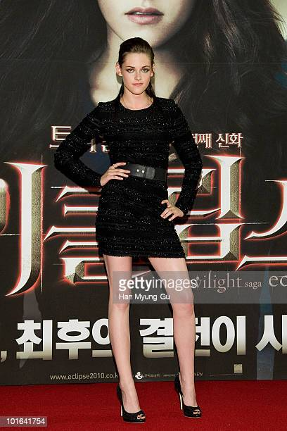 American actress Kristen Stewart participate for the upcoming release of the 'Twilight Saga Eclipse' Red Capet Fan Meeting at Mega Box on June 3 2010...
