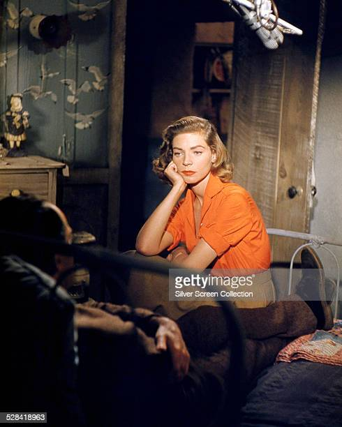 American actress Lauren Bacall as Gaby in 'The Petrified Forest' an episode in the American TV series 'Producers' Showcase' May 1955 In the...