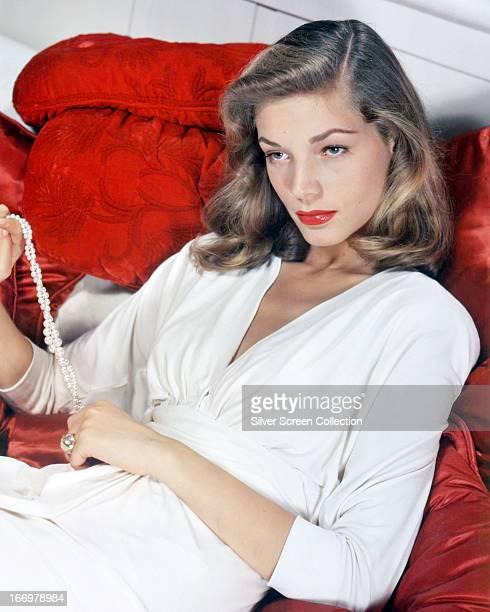 American actress Lauren Bacall circa 1950