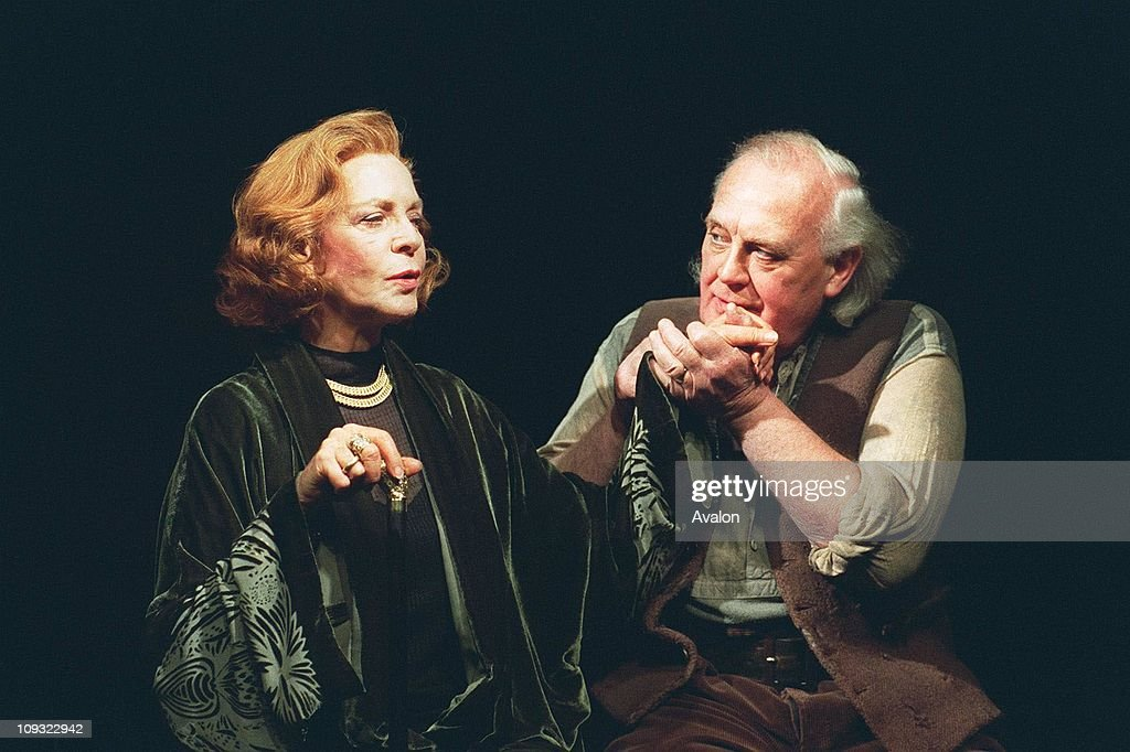 American Actress Lauren Bacall With JOSS ACKLAND.British Actor. In Scene from the stage play 'The Visit'.