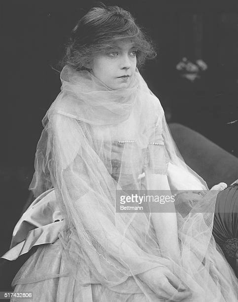 American actress Lillian Gish in the 1915 silent drama The Lily and the Rose Gish playing the lead role of Mary Randolph is wearing a tulle veil dress