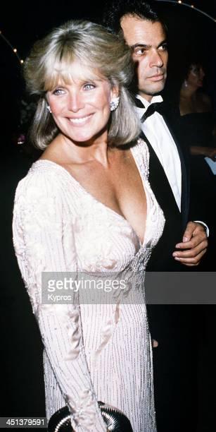 American actress Linda Evans with George Santo Pietro circa 1985