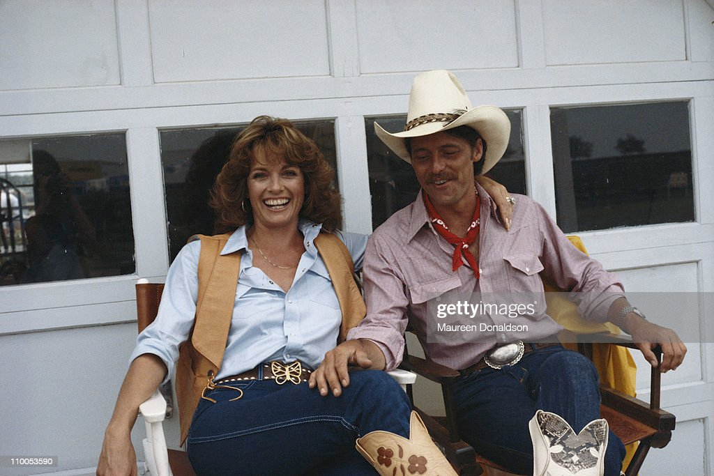 American actress Linda Gray on the set of the television soap opera 'Dallas', 18th July 1979.