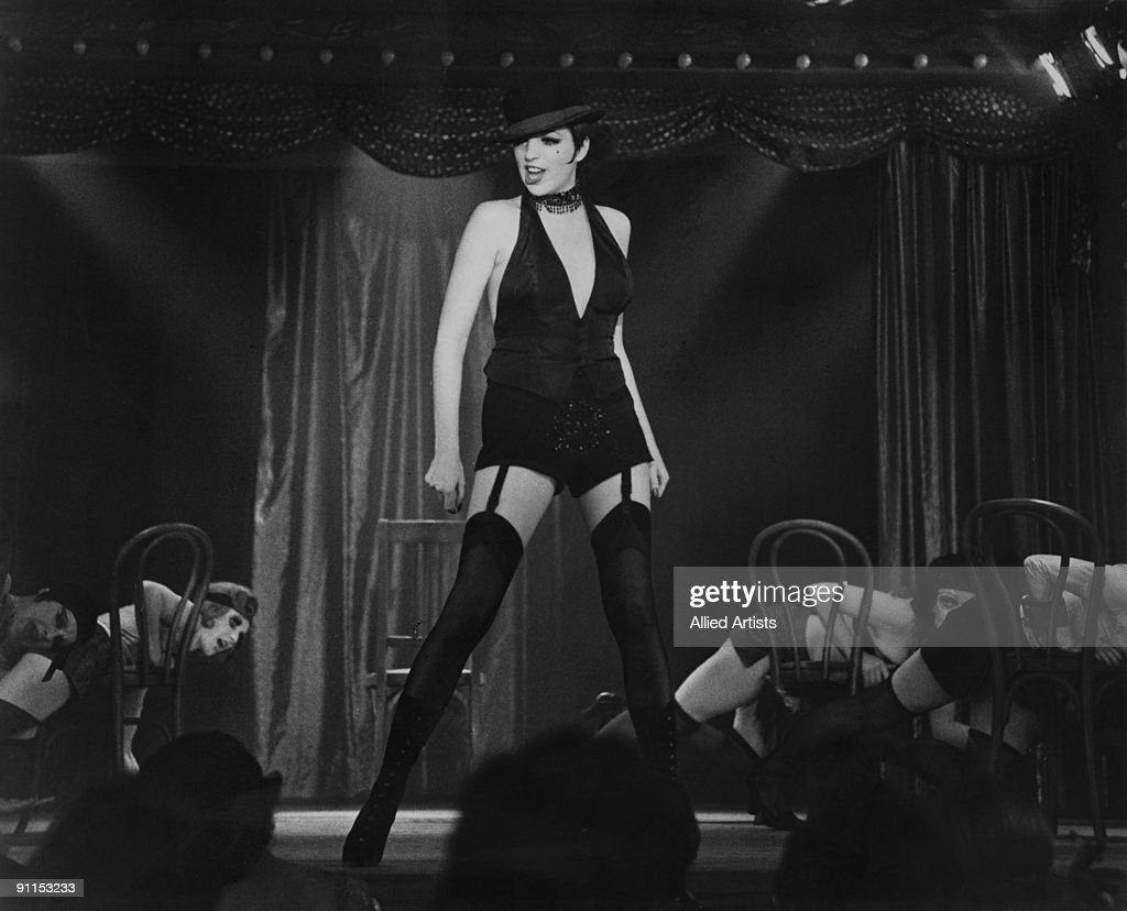 American actress Liza Minnelli as Sally Bowles in a scene from the musical 'Cabaret' directed by Bob Fosse Germany 1972