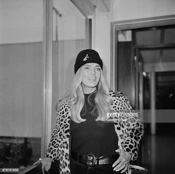 American actress Lizabeth Scott arrives at London Airport UK 12th November 1971