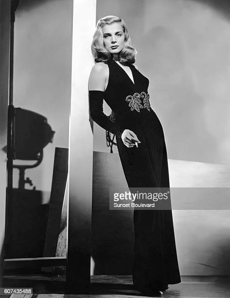 American actress Lizabeth Scott on the set of Dead Reckoning directed by John Cromwell
