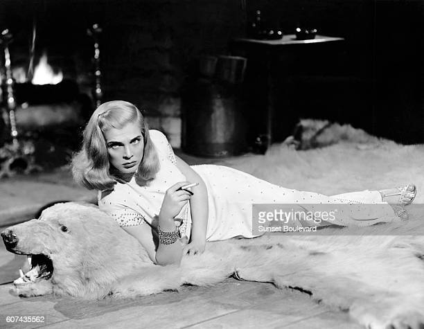 American actress Lizabeth Scott on the set of Desert Fury based on the novel by Ramona Stewart and drected by Lewis Allen