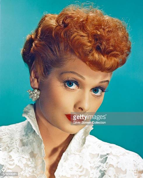 American actress Lucille Ball as Lucy Esmeralda MacGillicuddy Ricardo in the popular TV series 'I Love Lucy' circa 1955