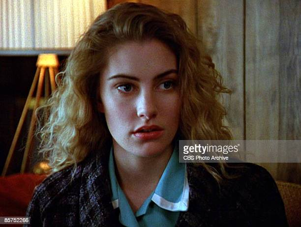 American actress Madchen Amick in a scene from the pilot episode of the television series 'Twin Peaks' originally broadcast on April 8 1990