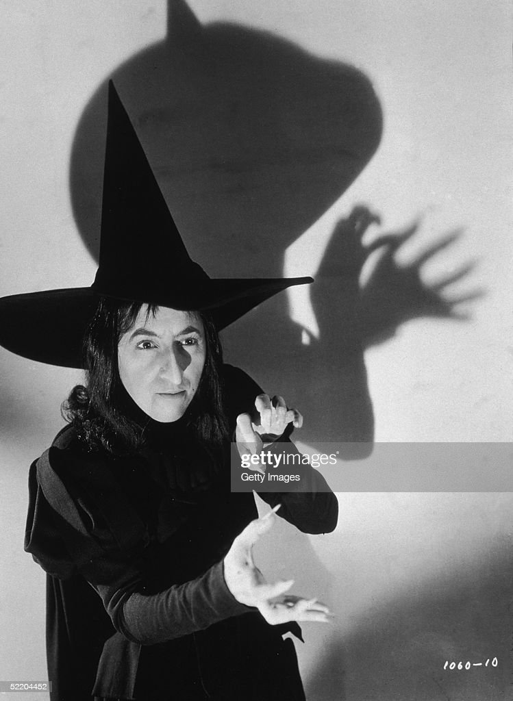 American actress Margaret Hamilton as The Wicked Witch of the West in Victor Fleming's 1939 film 'The Wizard of Oz'
