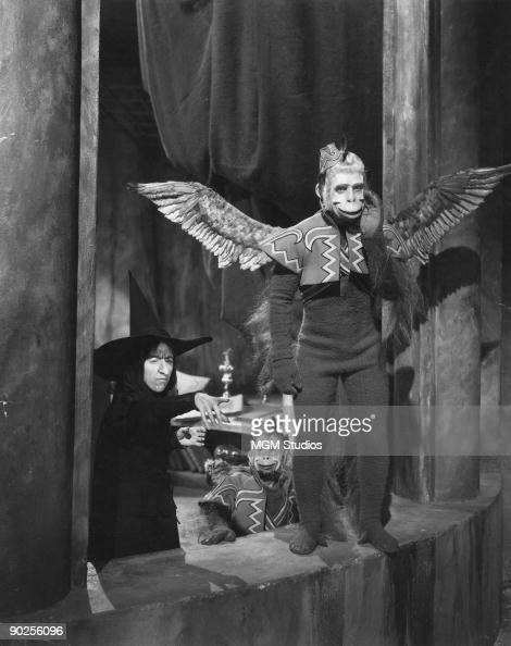 American actress Margaret Hamilton stars as the Wicked Witch of the West in the MGM film 'The Wizard of Oz' 1939 Here she commands her flock of...