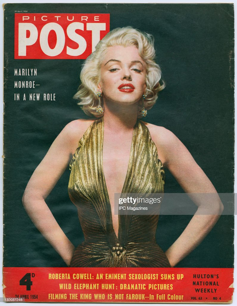 American actress Marilyn Monroe as she appears in 'Gentlemen Prefer Blondes' 1953 Picture Post Cover Marilyn Monroe In A New Role pub 24th April 1954