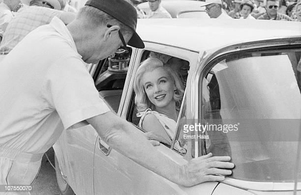 American actress Marilyn Monroe during the location shoot of 'The Misfits' in the Nevada Desert 1960