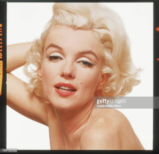 American actress Marilyn Monroe photographed in Los Angeles California at the end of June 1962 The shoot took place six weeks before Monroe's death...