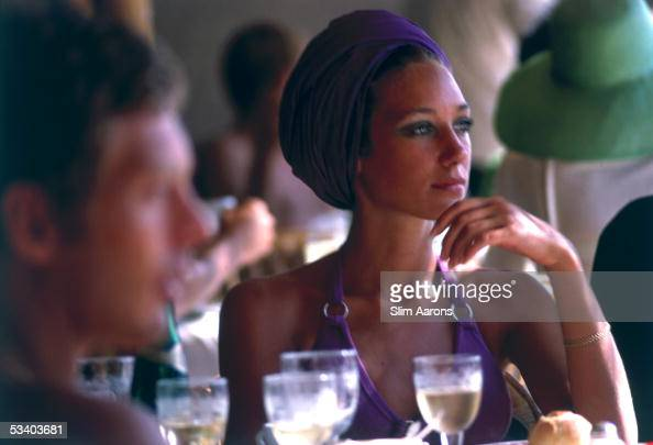 American actress Marisa Berenson in Capri 1968