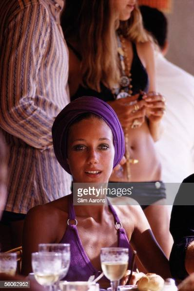 American actress Marisa Berenson in Capri September 1968
