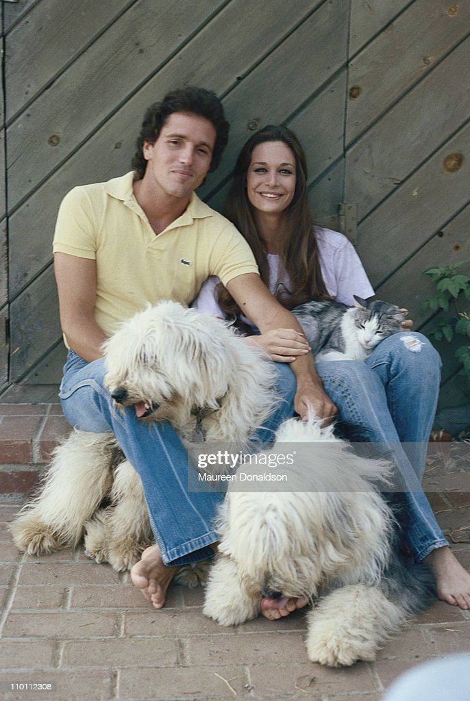 American actress Mary Crosby with her husband, actor Eb Lottimer, circa 1980.