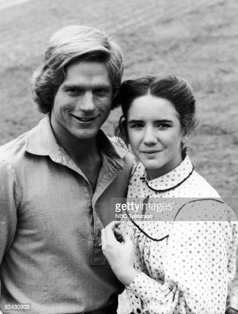 American actress Melissa Gilbert as Laura Ingalls and Canadian actor Dean Butler as Ingalls' fiance Almanzo James Wilder in an episode from the 1980...