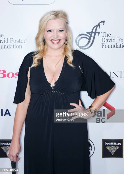 American actress Melissa Peterman arrives for the David Foster Foundation Gala at Rogers Arena on October 21 2017 in Vancouver Canada