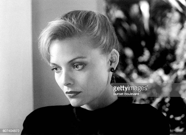 American actress Michelle Pfeiffer on the set of Tequila Sunrise written and directed by Robert Towne