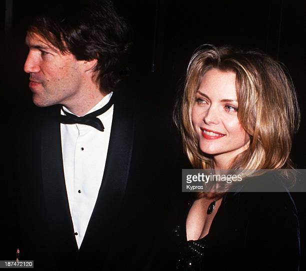 American actress Michelle Pfeiffer with her husband producer David E Kelley circa 1993