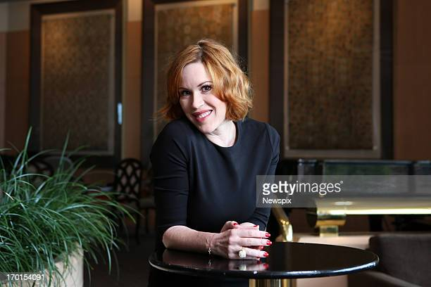 American actress Molly Ringwald poses for a photo near the Intercontinental Hotel ahead of her Cabaret Festival debut on June 5 2013 in Adelaide...