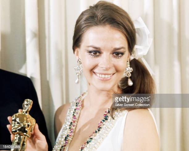 American actress Natalie Wood at the 40th Academy Awards at Santa Monica Civic Auditorium California 10th April 1968 She presented the award for Best...