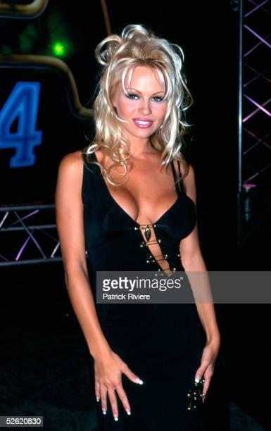 American actress Pamela Anderson arrives at the CCAM Awards December 1994 in Sydney Australia