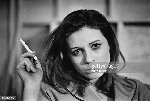 American actress Patty Duke taking a break from filming on the set of 'Valley of the Dolls' 24th April 1967