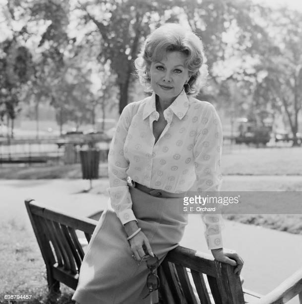 American actress Rhonda Fleming in London UK 4th September 1971