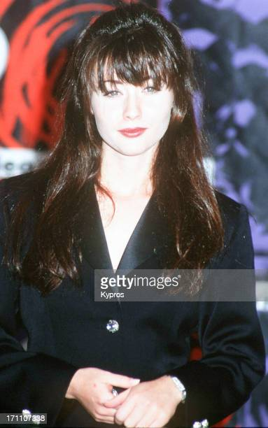American actress Shannen Doherty in the Press Room at the MTV Video Music Awards USA 9th September 1992