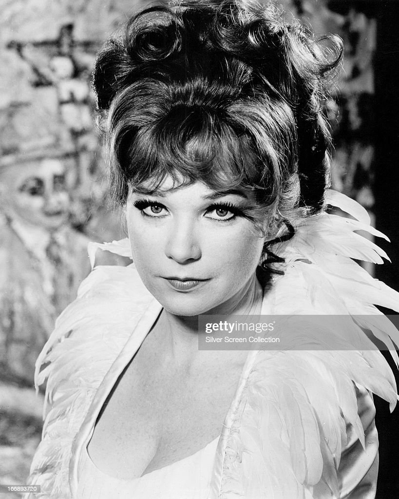 American actress <a gi-track='captionPersonalityLinkClicked' href=/galleries/search?phrase=Shirley+MacLaine&family=editorial&specificpeople=204788 ng-click='$event.stopPropagation()'>Shirley MacLaine</a> in a promotional portrait for 'The Bliss of Mrs. Blossom', directed by Joseph McGrath, 1969.