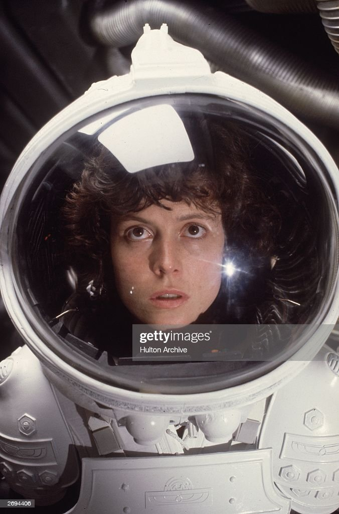 American actress Sigourney Weaver in the role of Ripley in the film 'Alien'.