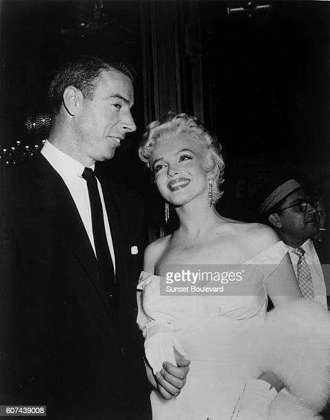American actress singer model and sex symbol Marilyn Monroe and second husband Major League Baseball center fielder Joe DiMaggio
